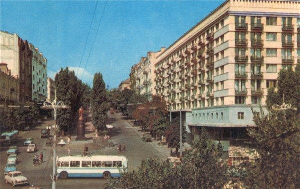 Бульвар Шевченко в 1965 году