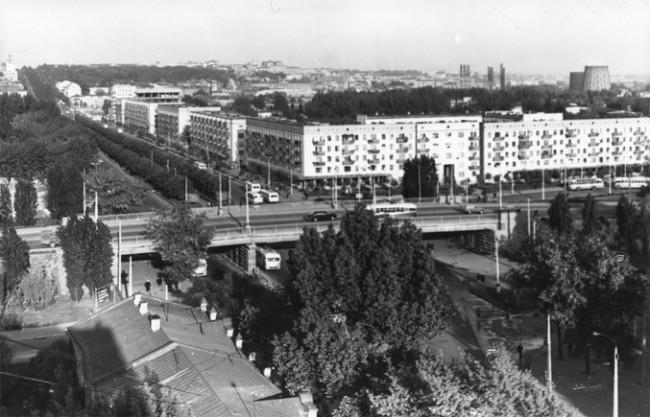 Воздухофлотский мост в 1965 году
