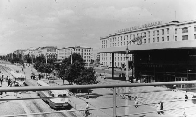 Станция метро Завод Большевик (ныне Шулявская) в 1965 году
