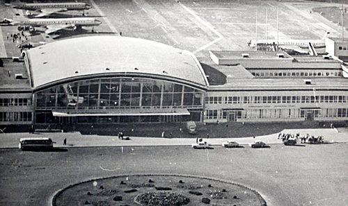 Аэропорт Борисполь с высоты полета в 65 году