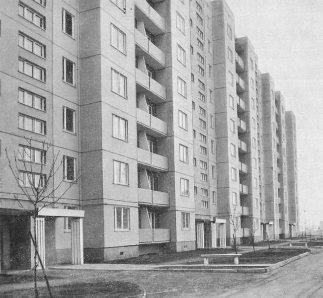 Жилые дома Оболони в 70-х годах 20 века