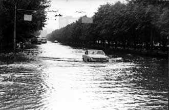 Наводнение в 1977 году на Брест-Литовском проспекте
