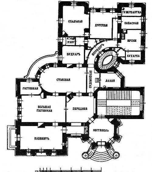 План дома с химерами, начало 20 века