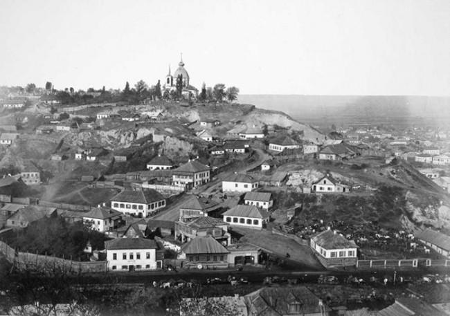 Вид на гору Щекавица, Подол, фото 1860 года