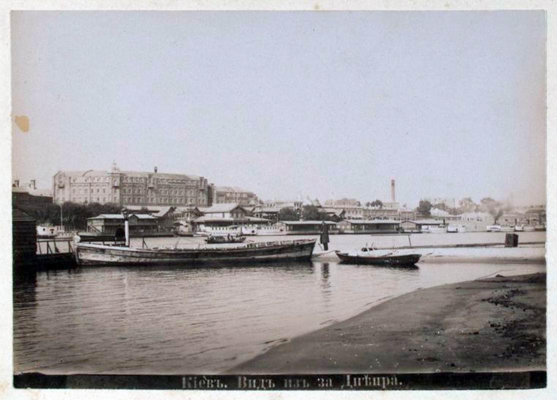 Вид на Подол с Левого берега в конце 19 века