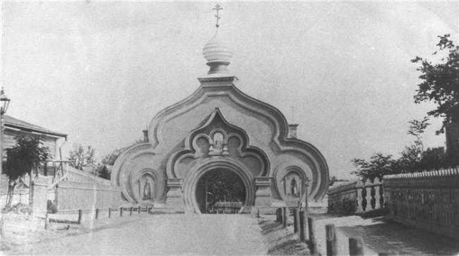 1890-е годы. Ворота Покровского монастыря