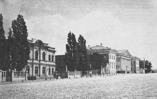 Здание банка на Институтской улице, теперь в нем находится НБУ, 1900 год