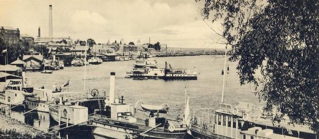 Днепр в районе Подола в начале 20 века