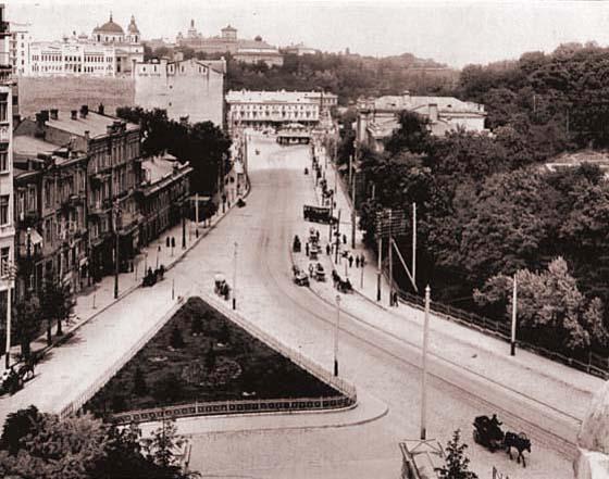 Вид на улицу Александровскую сверху, начало 20 века