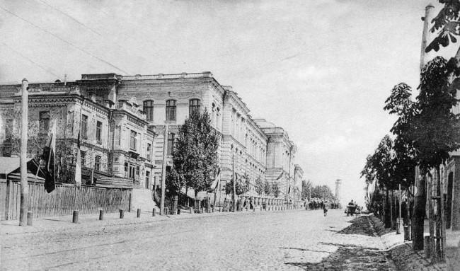 Улица Бульарно-Кудрявская, ныне Воровского в 1906 году