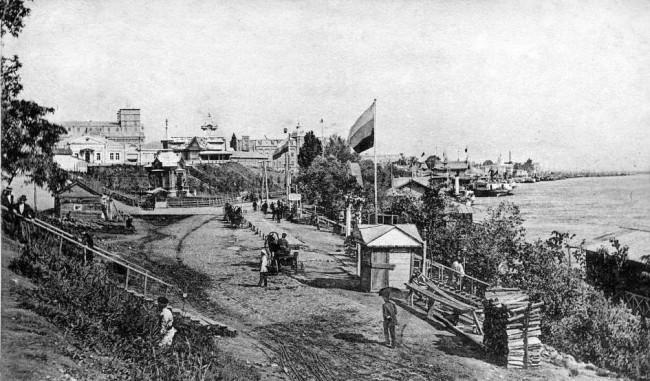 На берегу Днепра в 1906 году