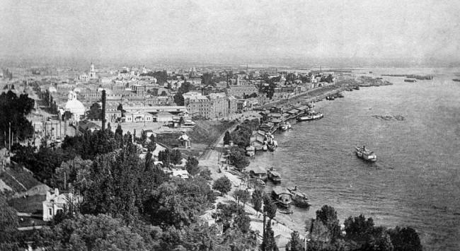 Набережная Днепра в 1906 году на Подоле