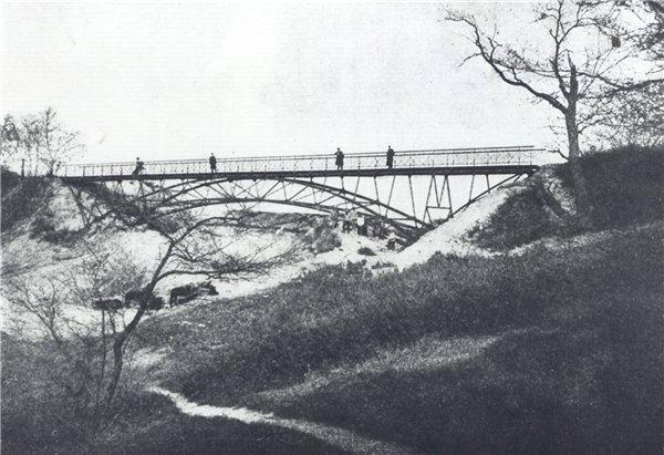 Мост над Петровской аллеей в 1910 году