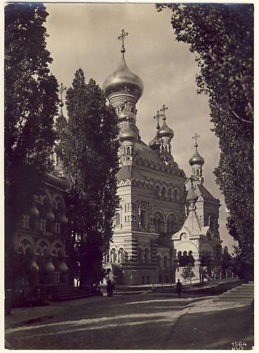 Покровский монастырь, начало века, черно-белое фото
