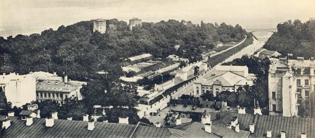 Петровский мост и Петровская аллея в 1910 годах