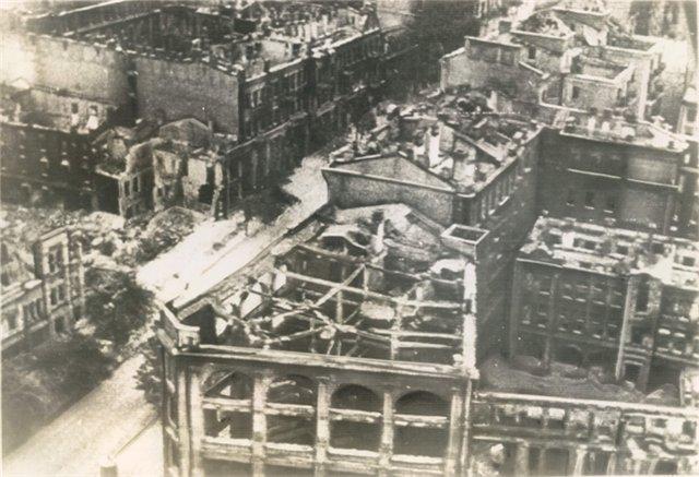 Повреждения от пожара в сентябре 1941 года