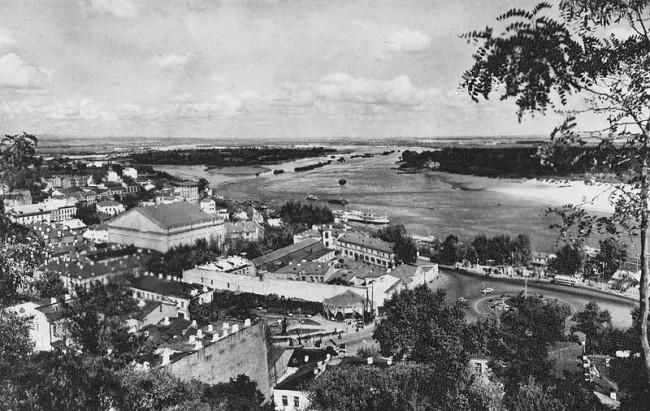 Почтовая площадь, Днепр, Подол, элеватор в 1950 году