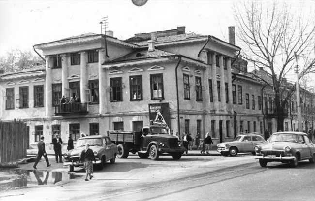 На Подоле в 1960 году, улица Набережно-Крещатицкая