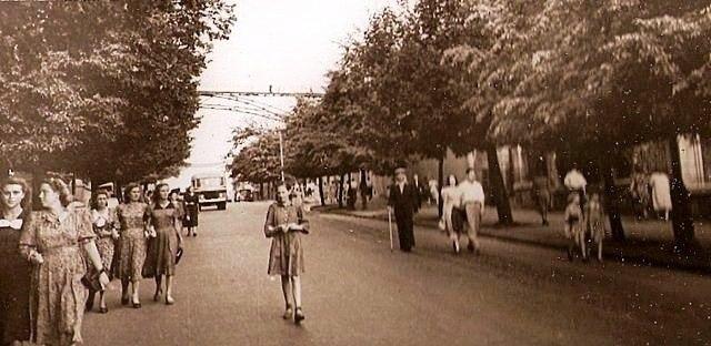 Парковый мост, Петровская аллея, в 60-х годах, Киев