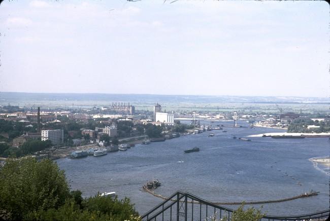 Днепр в 1964 году, цветное фото Подола