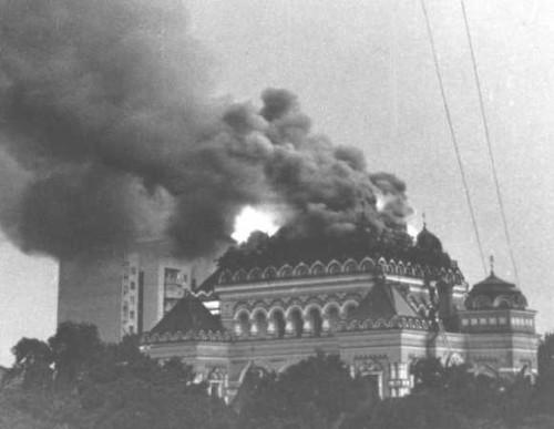 Пожар в Покровском монастыре
