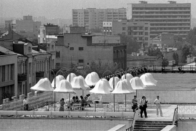 Кафе Золотые ворота на крыше Дома Одежды, Львовская площадь, Киев, 80-е годы