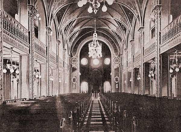 Интерьер киевской синагоги в 1898 году