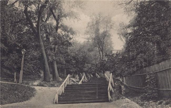 Лестница к колонне Магдебургского права в начале 20 века