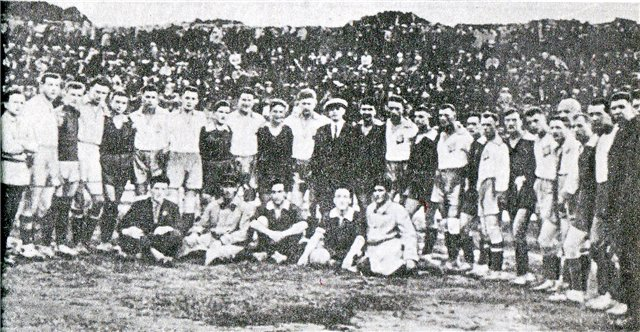 Матч динамовцев Киева и Москвы в 1928 году