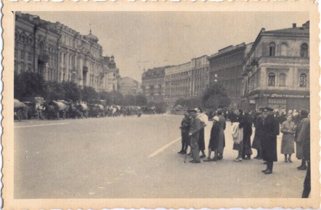 Крещатик осенью 1941 года