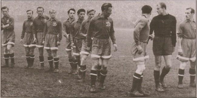 Первый кубок СССР для Динамо в 1954 году. Финальный матч против Спартака из Еревана