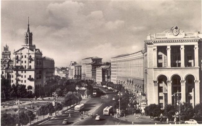 Здание Главпочтамта на Крещатике в 1959 году