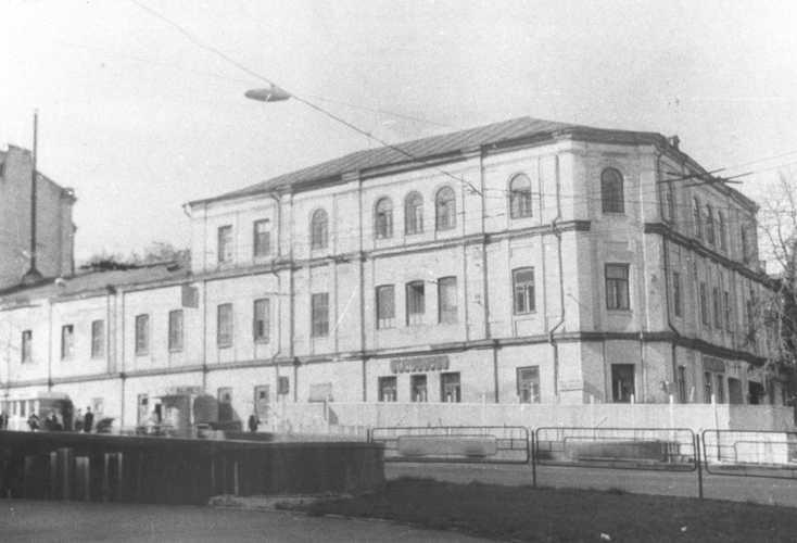 Пересечение улиц Толстого и Пушкинской в Киеве 80-х