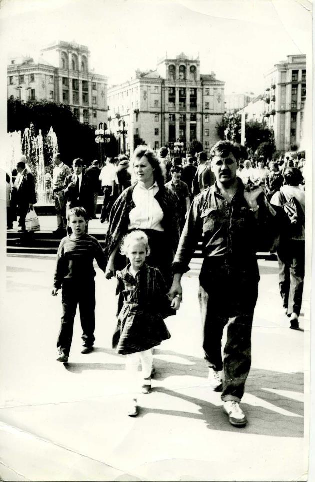 Площадь Независимости в 1990 году, фото Катерины Шевченко