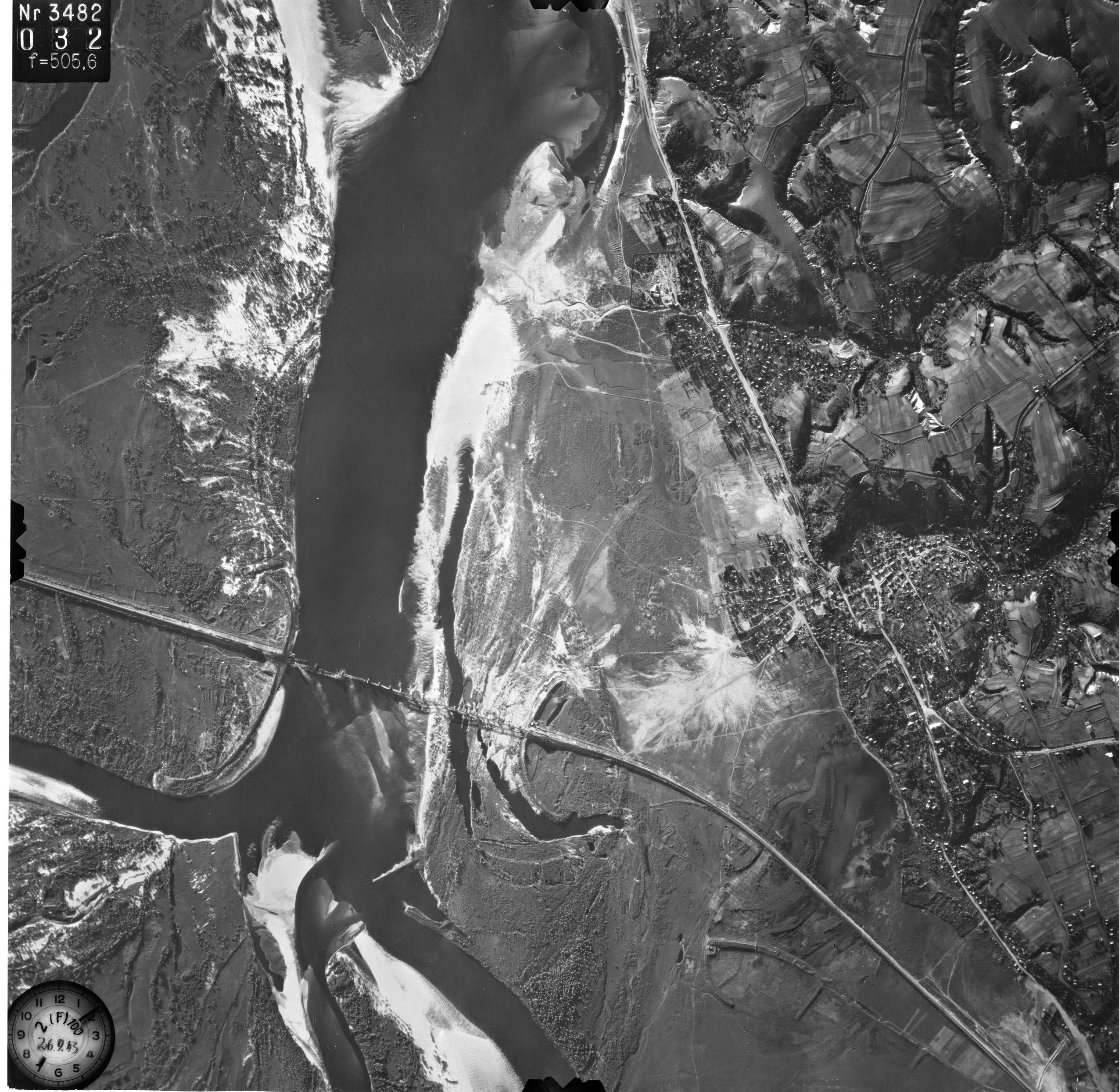Снимки Киева немецкой авиацией с воздуха 1943 года, Днепр