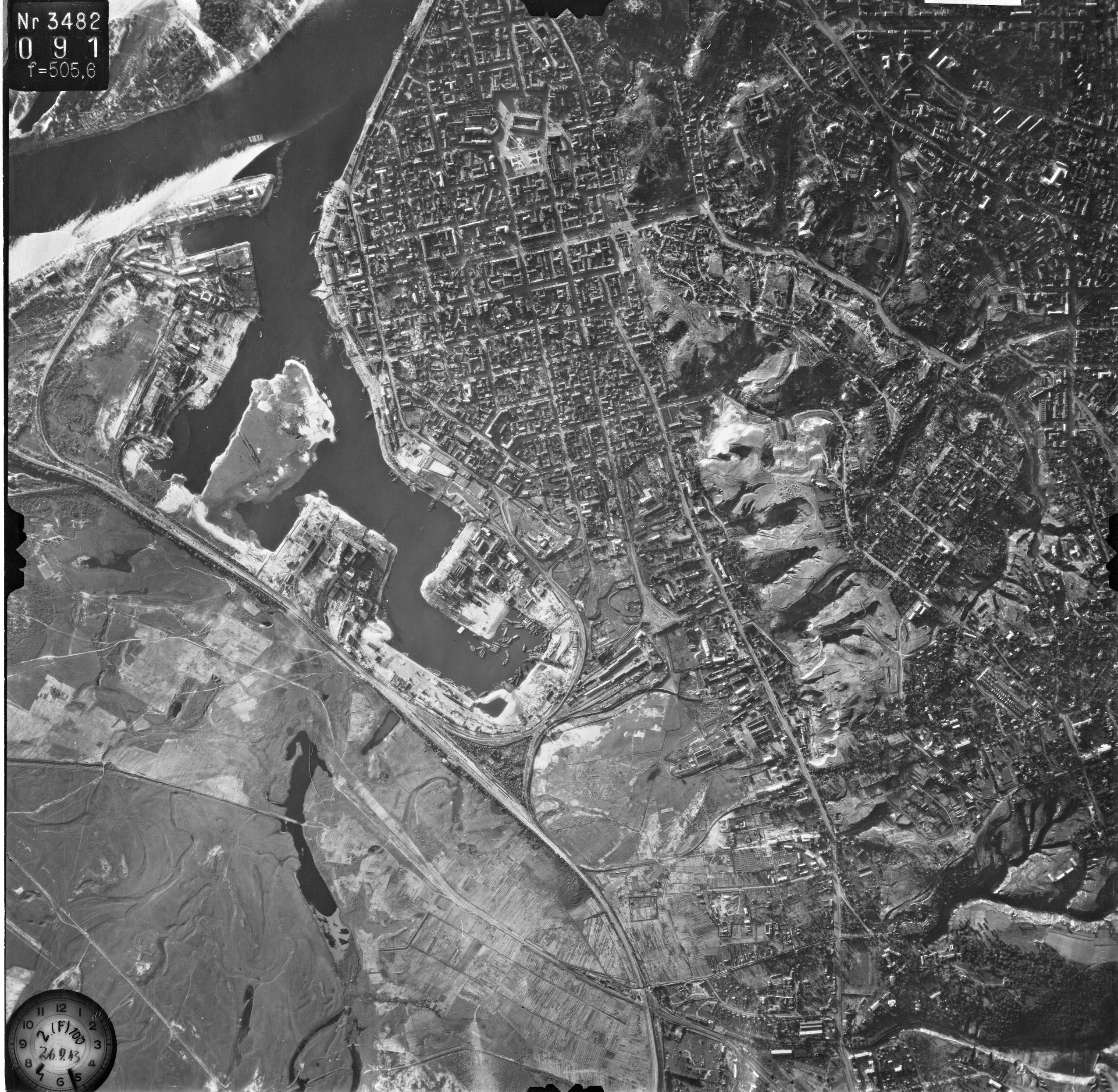 Снимки Киева немецкой авиацией с воздуха 1943 года