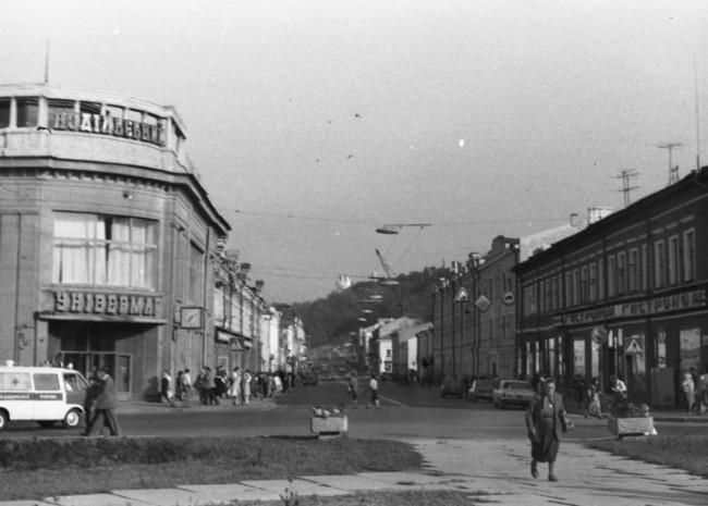 Улица Сагайдачного в 70-х годах