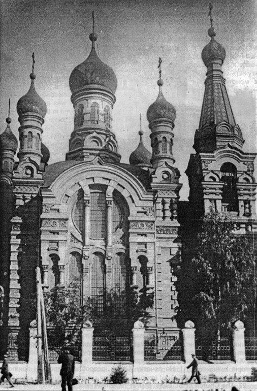 Старая Ильинская церковь у вокзала в Киеве, была разрушена