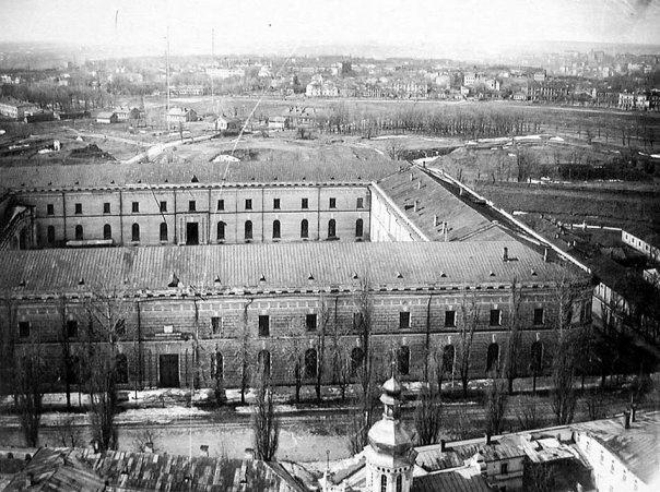Вид на завод Арсенал в 50-х годах
