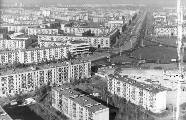 Вид на Ленинградскую площадь, город Киев
