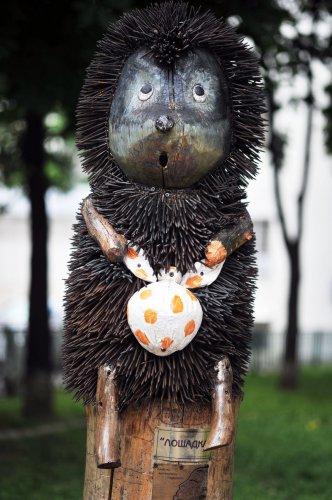 Ежик в тумане, шурупы, скульптура, автор Константин Скритуцкий