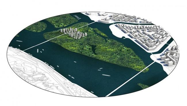 Как могут застроить Венецианский остров в Киеве