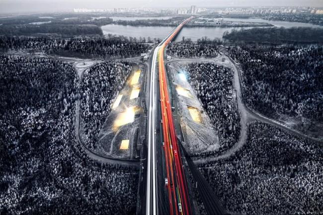 Как мог бы выглядеть мост через Днепр и острова в Киеве