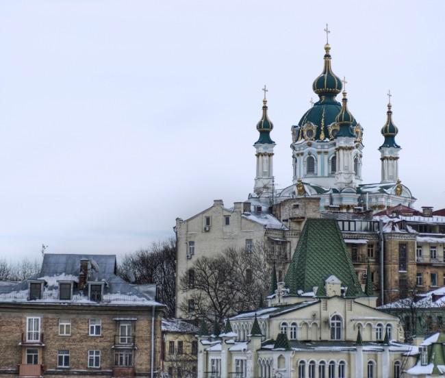 На Андреевском спуске в Киеве