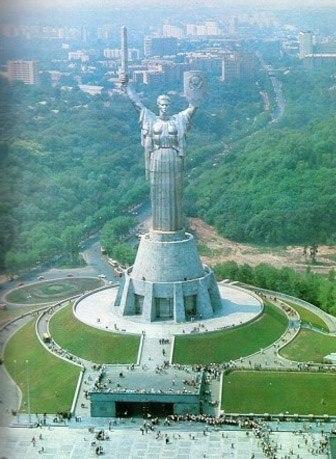 Вид на Родину-Мать в Киеве, фото 1980 года