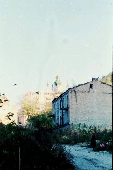 1990-е годы. Воздвиженка, видно Андреевскую церковь