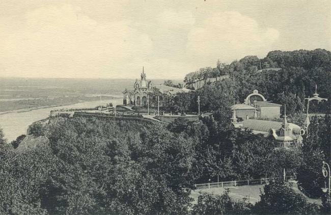 Крещатый парк, ранее Купеческий сад, 19 век