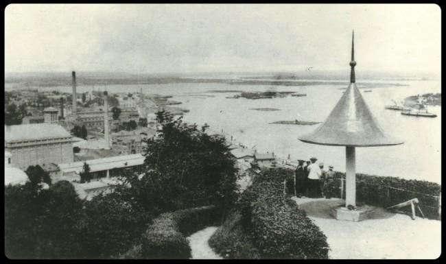 Вид на Подол из Крещатого парка, начало 20 века