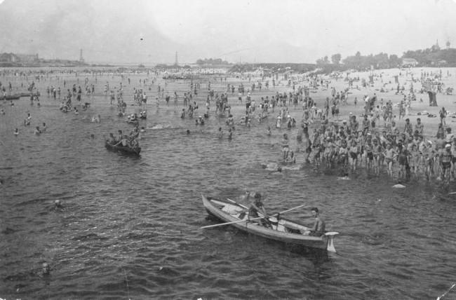 Пляж Труханова острова в 30-х годах