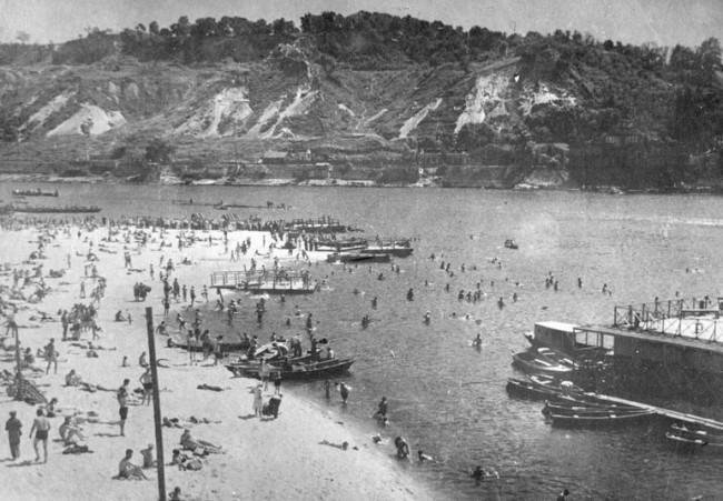 Пляж Труханова острова в 1939 году